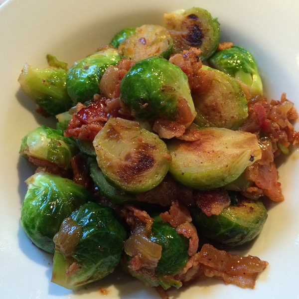 Bourbon Bacon Marmalade Brussels Sprouts