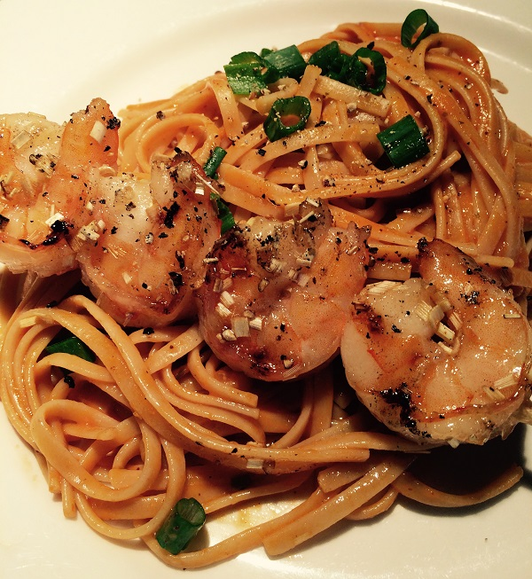 Garlic and Lemongrass Shrimp with Spicy Coconut Noodles