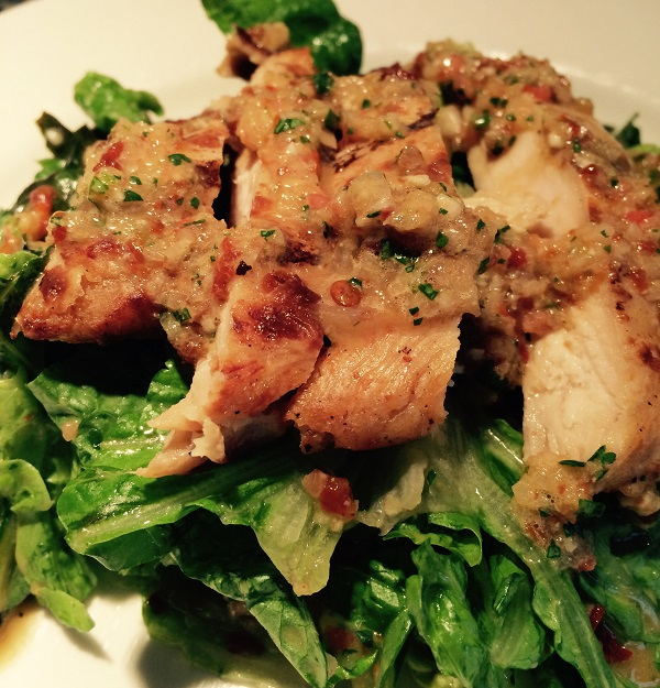 Grilled Chicken Salad with Sweet Chipotle Dressing