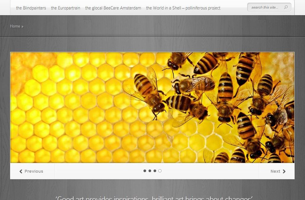 Website for art foundation.
