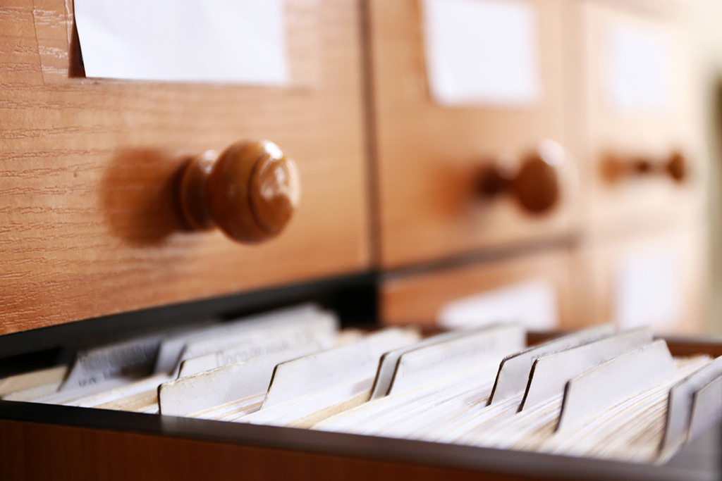 Card Catalog for Author Index