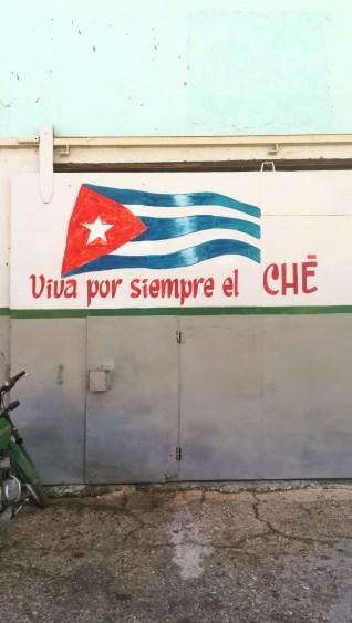 Graffito su Che Guevara a Santa Clara
