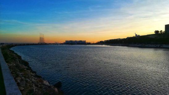 tramonto sul Tago