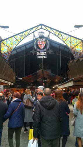 Entrata mercato Boqueria nella magica Barcellona