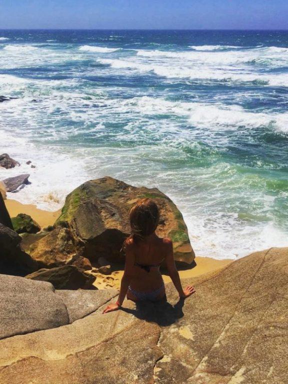 santa cruz portogallo spiaggia da bandiera blu