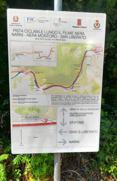 La Cartina per percorsi pedonali e in bicicletta