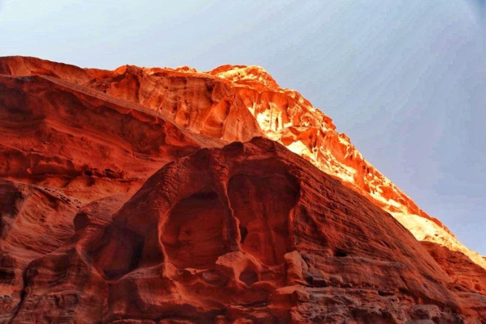 tramonto giordania deserto