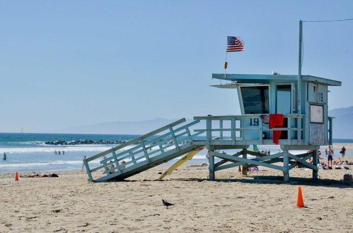 venice beach torretta baywatch giornata
