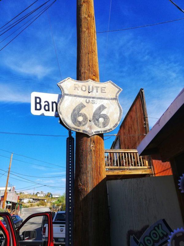 cartello storico route 66