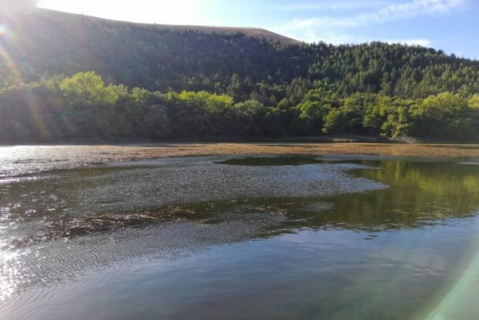 lago pescara sui monti dauni
