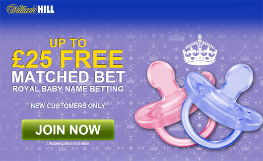 William Hill Baby Name Betting