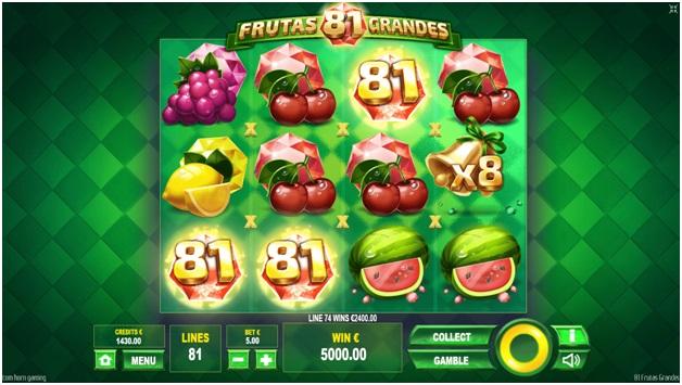 81 Frutas Grandes – Game Features