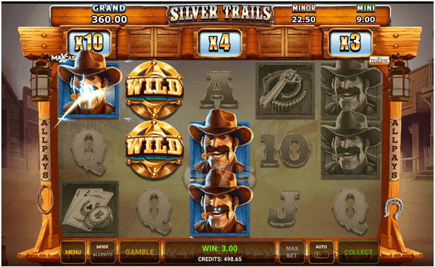 What do you win in Silver Trails Slots