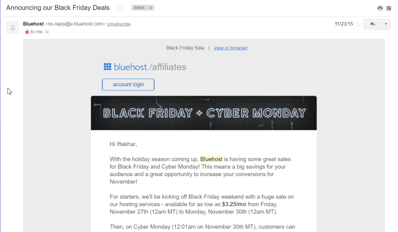 bluehost blackfriday