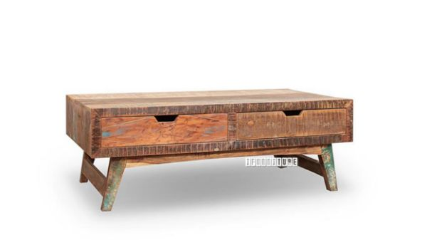 malmo solid recycled wood coffee table with drawers