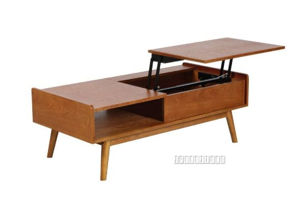 lila mid century pop up coffee table natural