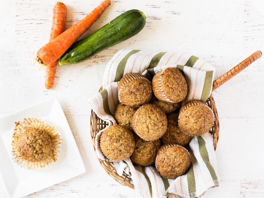 Get your serving of vegetables in muffin form! This recipe for carrot zucchini muffins is so good.   www.ifyougiveablondeakitchen.com