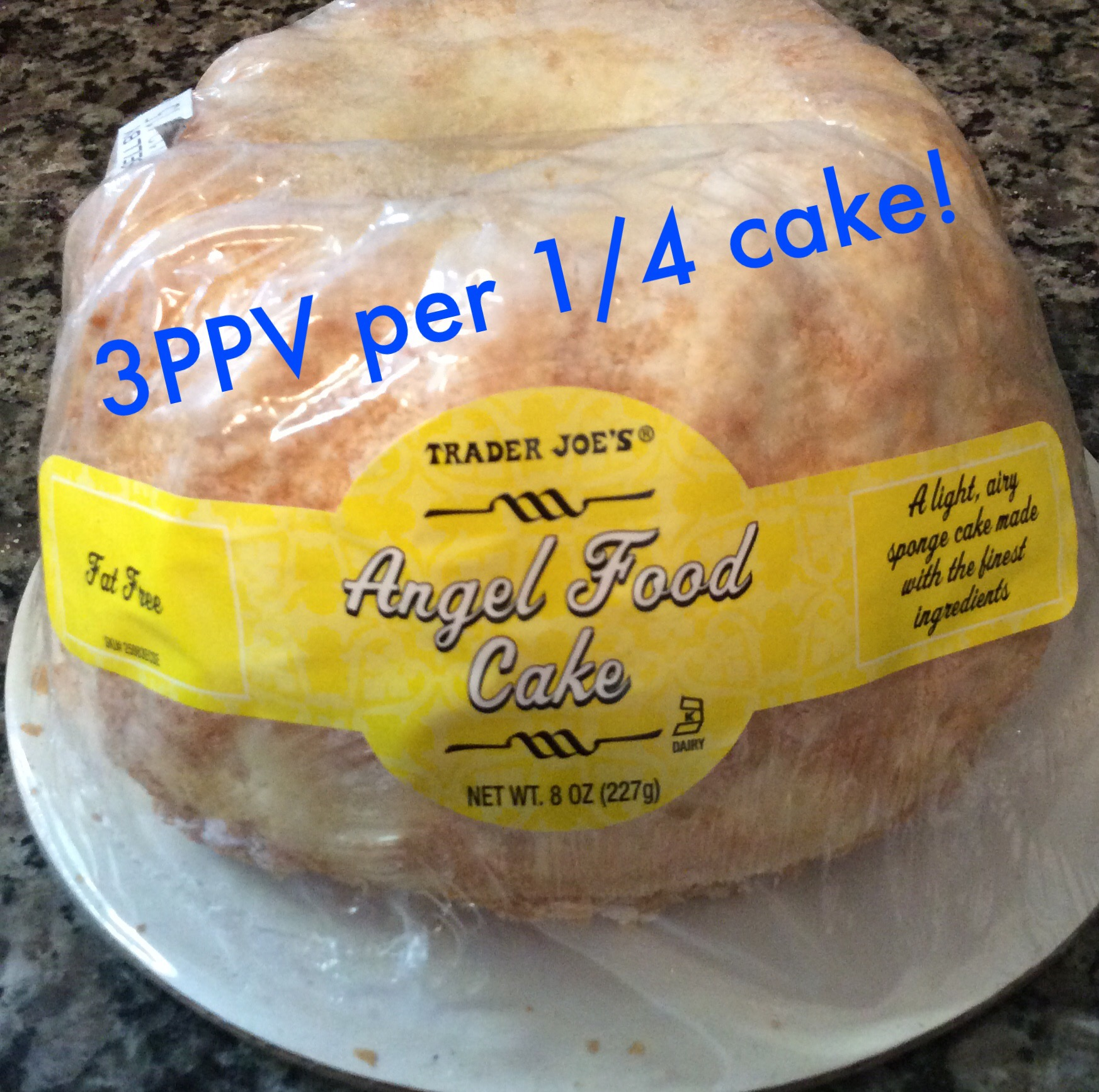 Trader joes find of the day angel food cake 3 weight watchers tjs angel food cake with mango cherries and coconut 3ppv forumfinder Image collections