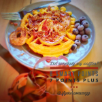 Pumpkin Bacon Apple Cinnamon Waffle: 8 Weight Watchers Smart Points / 7 Points Plus