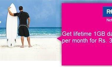 Reliance NetConnect: Now get 1GB data per month for lifetime - 2
