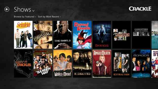 Crackle - app to watch live tv - new