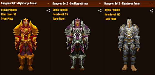 Wow All Classes Dungeon Sets Gameszone