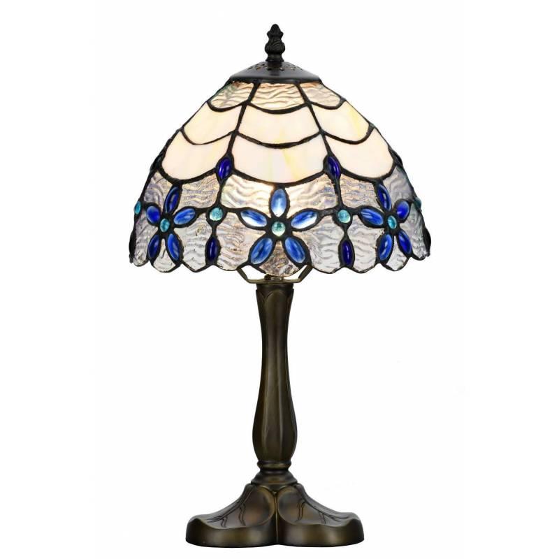 SULION Blue Tiffany Table Lamp