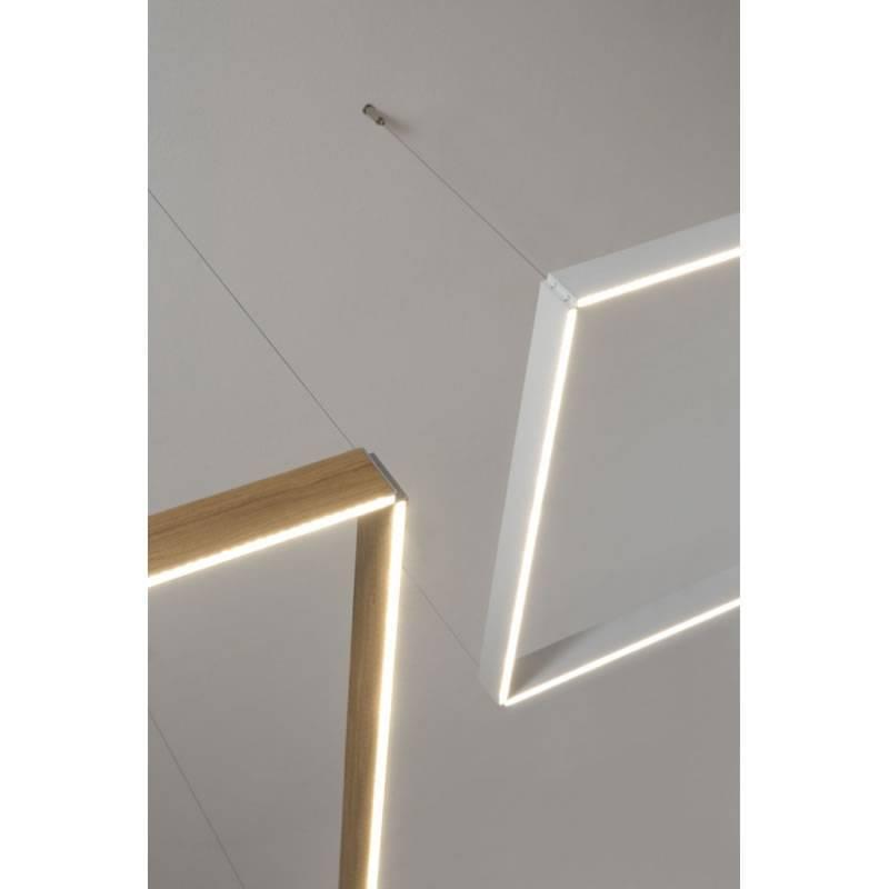 OLE By FM Manolo Square Pendant Lamp LED Wood