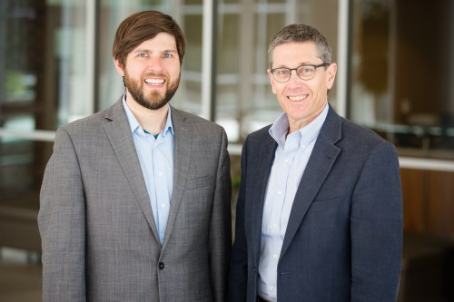 Postdoctoral researcher Michael Saul, left, IGB director and entomology professor Gene Robinson and their colleagues found that genes that are closely associated with autism spectrum disorders in humans are regulated differently in the brains of socially unresponsive honey bees than in bees that behave more typically.