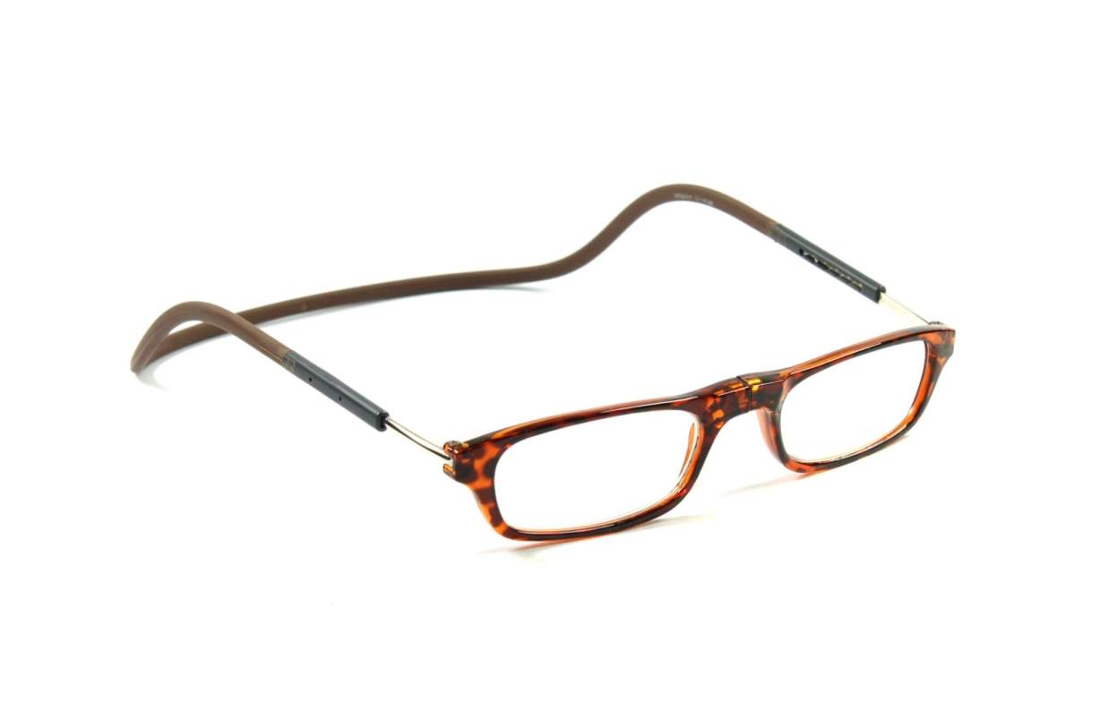 magnetic eyeglasses brown