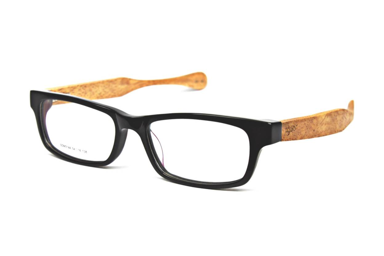 Rectangular Wooden Eyeglasses