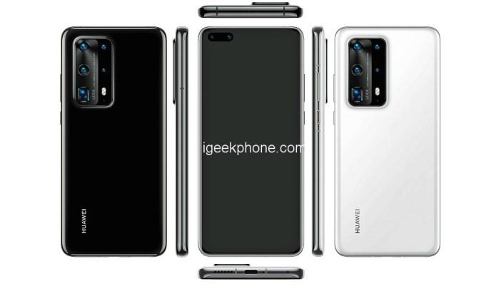 Huawei P40 PE Render