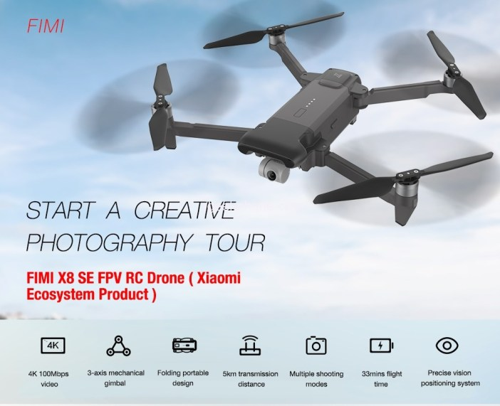 FIMI X8 SE Foldable Rc Drone Features
