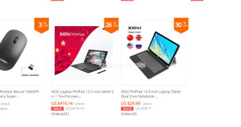 XIDU Laptops and Accessories in Cheapest Cost Available @Aliexpress XIDU OFFICIALS STORE SALE