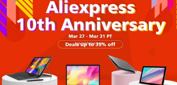 Grab All the Chuwi Products @Aliexpress 10th Anniversary Chuwi Sale ( Mar 27 – Mar 31 PT)