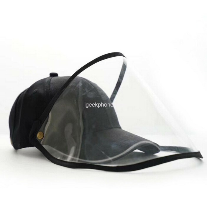 Household Anti-Droplet Hat Detachable Face Mask