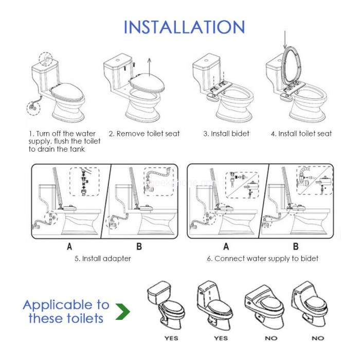 Bidet Fresh Water Spray Mechanical Home Toilet Seat