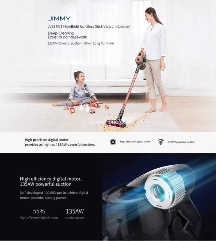 JIMMY JV83 Pet Wireless Handheld Vacuum Cleaner