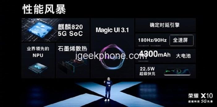 Honor X10 5G Spces