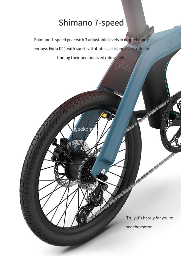FIIDO D11 Folding Electric Moped Bicycle