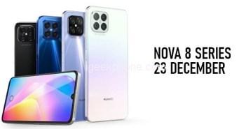 Huawei Nova 8, 8 Pro, Enjoy 20 SE & Watch Fit