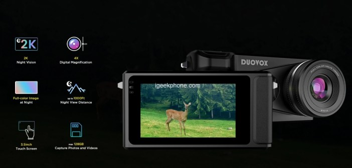 Duovox Mate – Handy Touch Screen 2K Full-color Night Vision Camera Launched