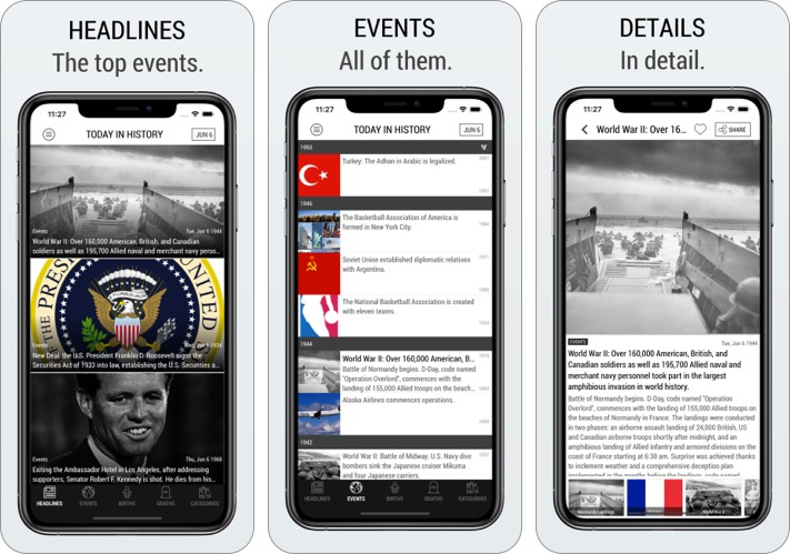 Приложение Today In History Lite Edition для iPhone и iPad