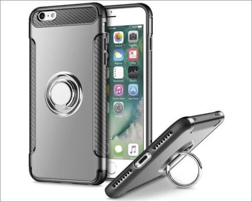 Ультратонкий чехол-держатель для колец UEEBA для iPhone SE 2020