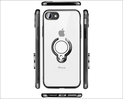 ZHIYIJIA Чехол-держатель с прозрачным кольцом для бампера для iPhone SE 2020
