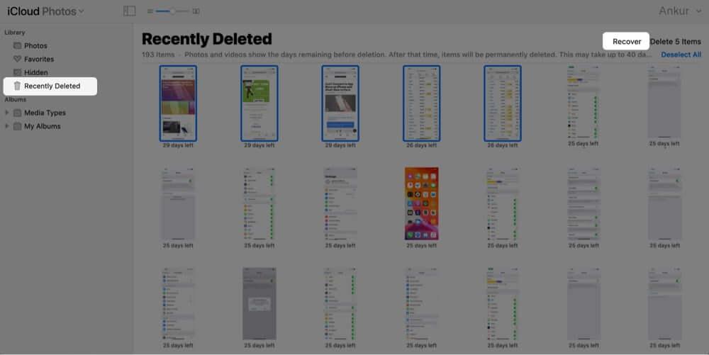 Восстановить удаленные фотографии iPhone из iCloud