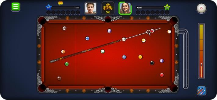 8 мячей пул двое игроков iphone игры скриншот