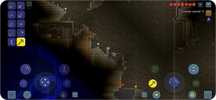 Terraria для двух игроков iPhone скриншот игры