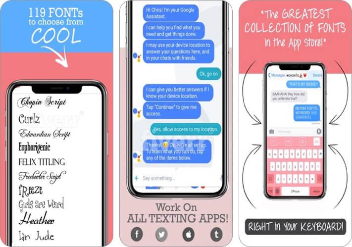 лучший шрифт-s крутая клавиатура-s скриншот приложения для iphone и ipad