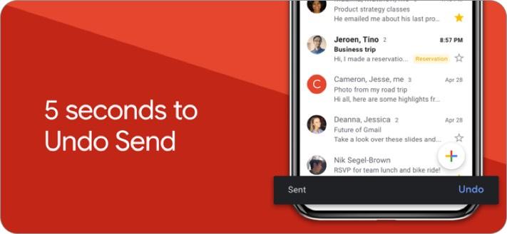 Скриншот приложения электронной почты gmail iphone и ipad